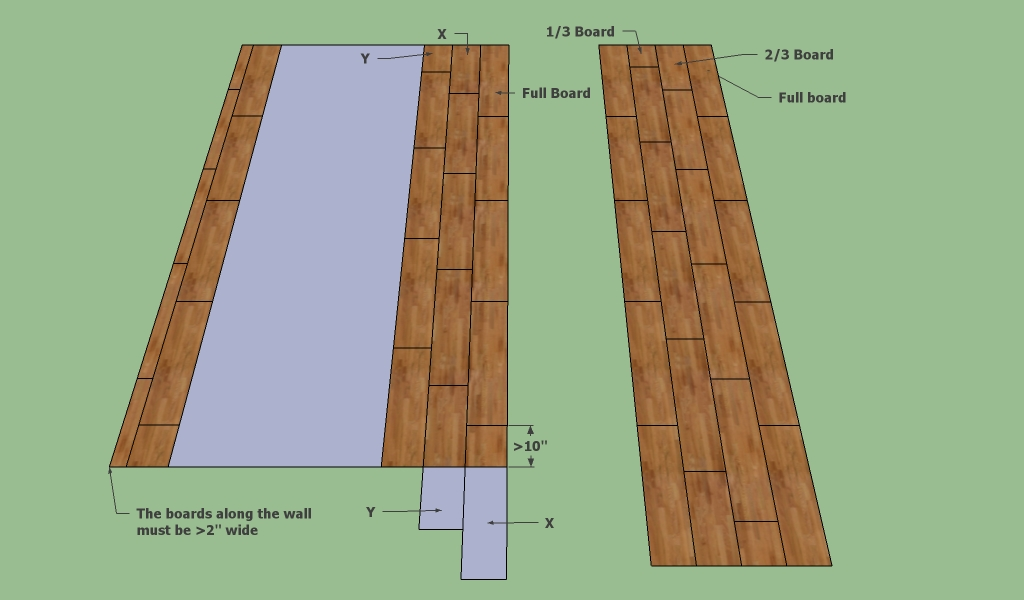 How to layout laminate flooring for Laminate floor planner